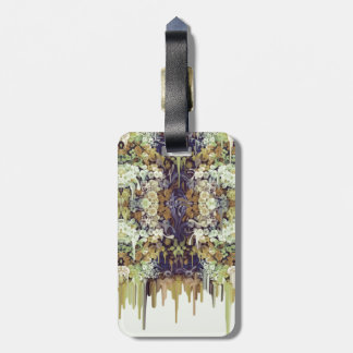 Inseto de junho, teste padrão floral de tags para bagagens