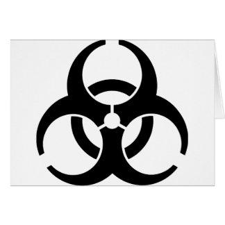 Insígnias universais do Biohazard Cartoes