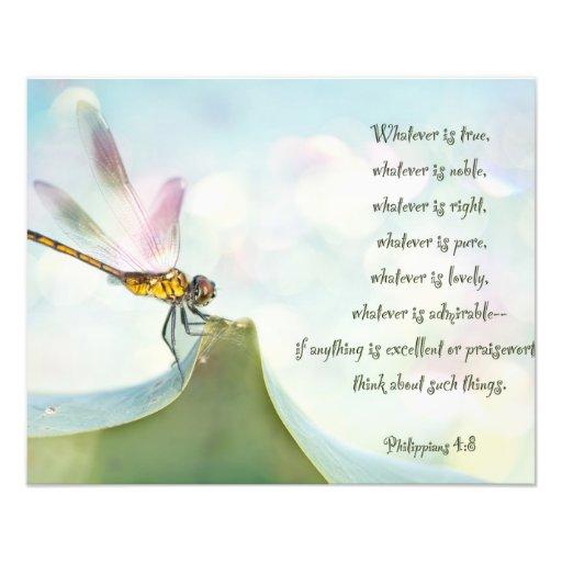 Inspiração da libélula impressão de fotos