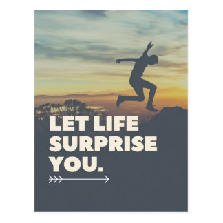 Inspirado deixe a surpresa da vida você cartão