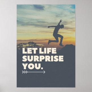 Inspirado deixe a surpresa da vida você poster