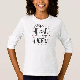 Inspirado meu pai é minha camisa da luva do herói