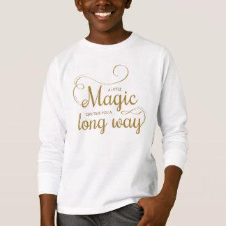 Inspirado pouca camisa mágica da luva das citações