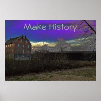 Inspirador Poster-Faça a história Poster