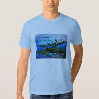 Inspirar-Arbusto da natureza/oceano/Mountain View Camiseta