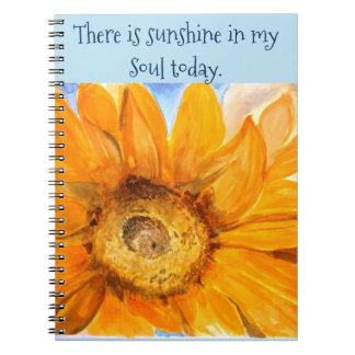 Inspire o caderno da arte da aguarela do girassol