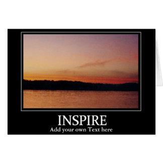 Inspire o cartão do por do sol