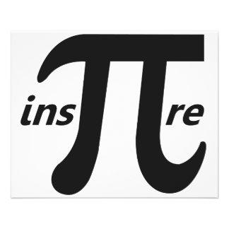 Inspire o símbolo inspirado do Pi Flyer 11.43 X 14.22cm