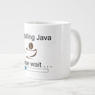 Instalando a caneca de café de Java