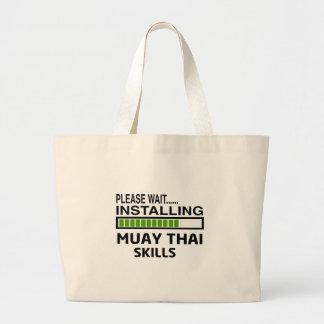 Instalando habilidades tailandesas de Muay Bolsa Para Compras