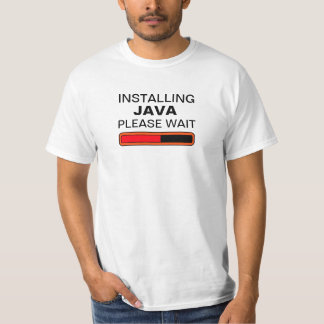 Instalando Java espere por favor Camiseta