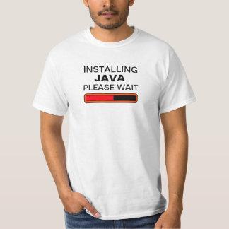 Instalando Java espere por favor T-shirt