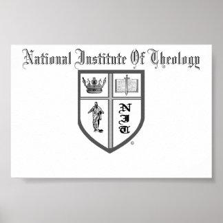 Instituto nacional do logotipo da teologia poster