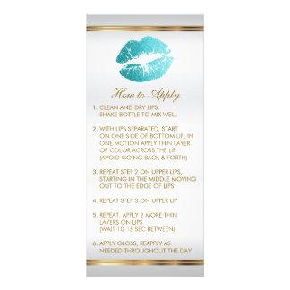 Instruções 2 do batom do brilho da cerceta panfleto