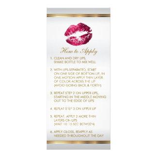 Instruções 2 do bordo do brilho do rosa quente 10.16 x 22.86cm panfleto