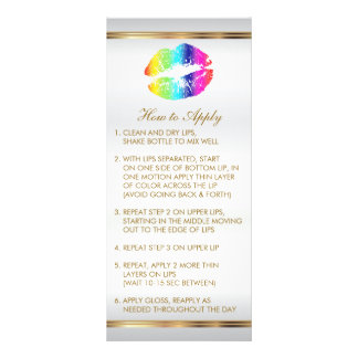 Instruções 2 dos lábios do arco-íris 10.16 x 22.86cm panfleto