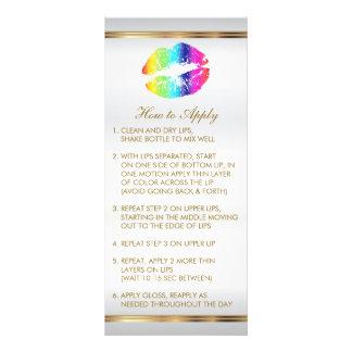 Instruções 2 dos lábios do arco-íris panfleto