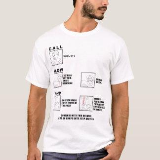 Instruções do CPR que funcionam a camisa