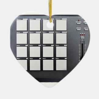 Instrumentals MPC Ornamento De Cerâmica Coração