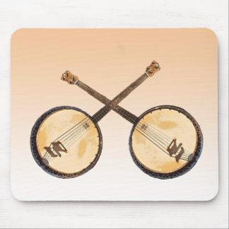 Instrumento de música abstrato Mousepad do banjo