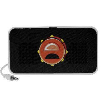 Instrumento gráfico de Brown Musicial do pandeiro Caixinhas De Som Para Mini