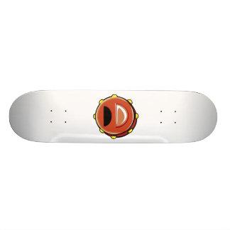 Instrumento gráfico de Brown Musicial do pandeiro Shape De Skate 21,6cm