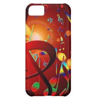 Instrumentos das notas da canção & da dança do capa para iPhone 5C