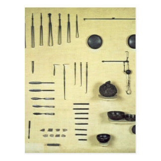 Instrumentos do exemplo de um oculista, de Reims Cartão Postal