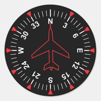 Instrumentos do vôo adesivo redondo