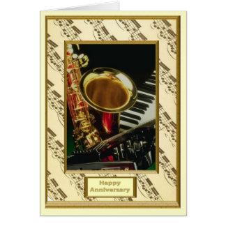 Instrumentos musicais cartão comemorativo