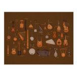 Instrumentos musicais da corda cartao postal