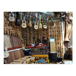 Instrumentos musicais - Machu Picchu - Perú Cartão Postal