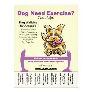 Instrutor de cão que treina a folha de rasgo ativa flyer 21.59 x 27.94cm