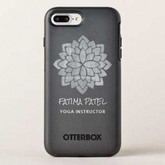 Instrutor moderno floral da ioga da mandala capa para iPhone 8 plus/7 plus OtterBox symmetry