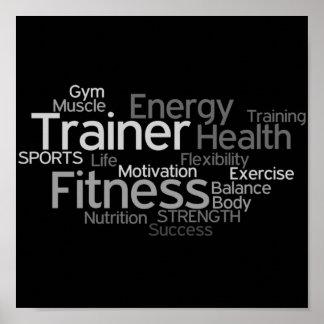 Instrutor ou poster pessoal do fitness center