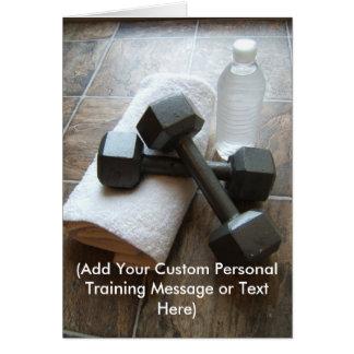 Instrutor ou toalha & água pessoal de Dumbells da  Cartoes