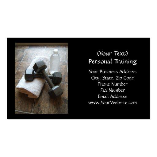 Instrutor ou toalha & água pessoal de Dumbells da  Cartões De Visitas