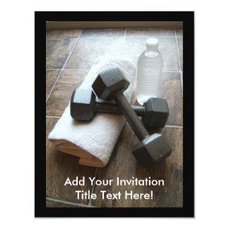 Instrutor ou toalha & água pessoal de Dumbells da Convite 10.79 X 13.97cm