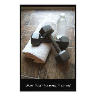 Instrutor ou toalha & água pessoal de Dumbells da Panfletos