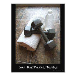Instrutor ou toalha & água pessoal de Dumbells da Panfletos Personalizados
