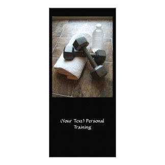 Instrutor ou toalha & água pessoal de Dumbells da  Planfeto Informativo Colorido