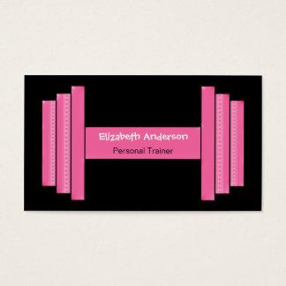 Instrutor pessoal cor-de-rosa e preto moderno cartão de visitas