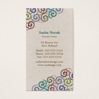 Instrutor pessoal espiral cartão de visitas