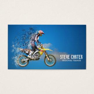 Instrutor pessoal profissional da bicicleta do cartão de visitas