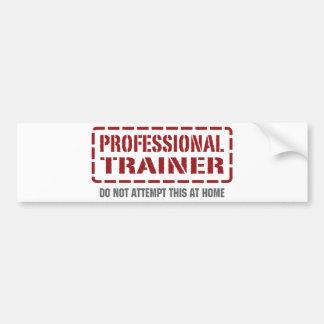 Instrutor profissional adesivo para carro