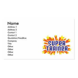 Instrutor super cartões de visita