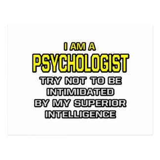 Inteligência superior do psicólogo… cartão postal