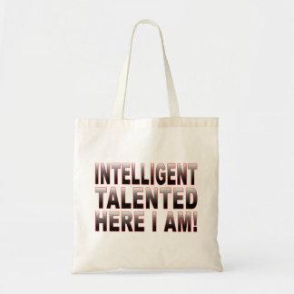 Inteligente e talentoso bolsas de lona