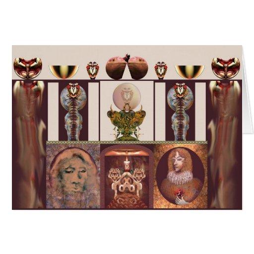 Interior com a chama por Anjo Lafin Cartões
