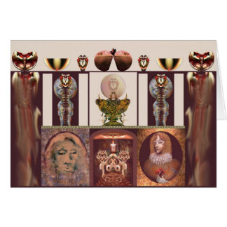 Interior com a chama por Anjo Lafin Cartão Comemorativo